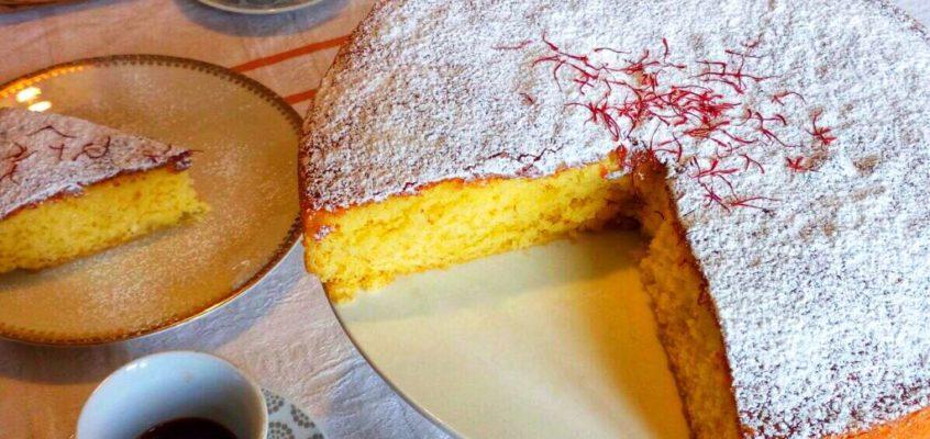 Torta margherita allo zafferano